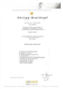 Narbentherapie Boeger-Therapie Basisseminar 3 Physiotherapie Praxis Kreuzlingen Philipp Breitkopf