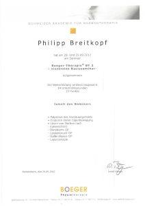 Narbentherapie Boeger-Therapie Basisseminar 2 Physiotherapie Praxis Kreuzlingen Philipp Breitkopf