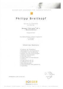 Narbentherapie Boeger-Therapie Basisseminar 1 Physiotherapie Praxis Kreuzlingen Philipp Breitkopf